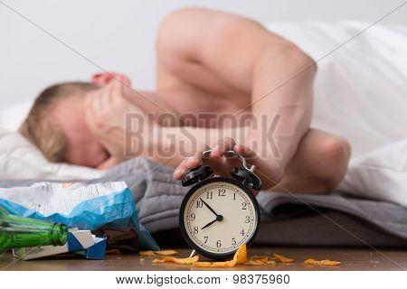 Ignoring Alarm Clock