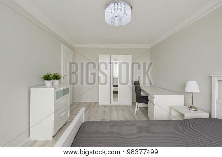 Contemporary Design White Bedroom