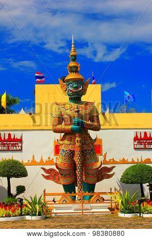 Measure giant in Mini Siam Pattaya City Naklua Banglamung Chonburi Thailand poster