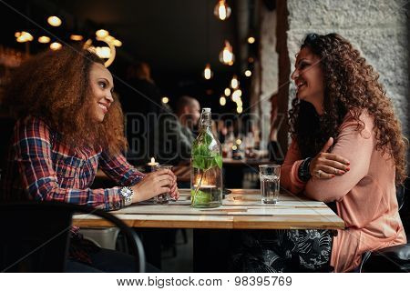 Female Friends Meeting In A Cafe