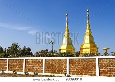 Pagoda Gold With Blue