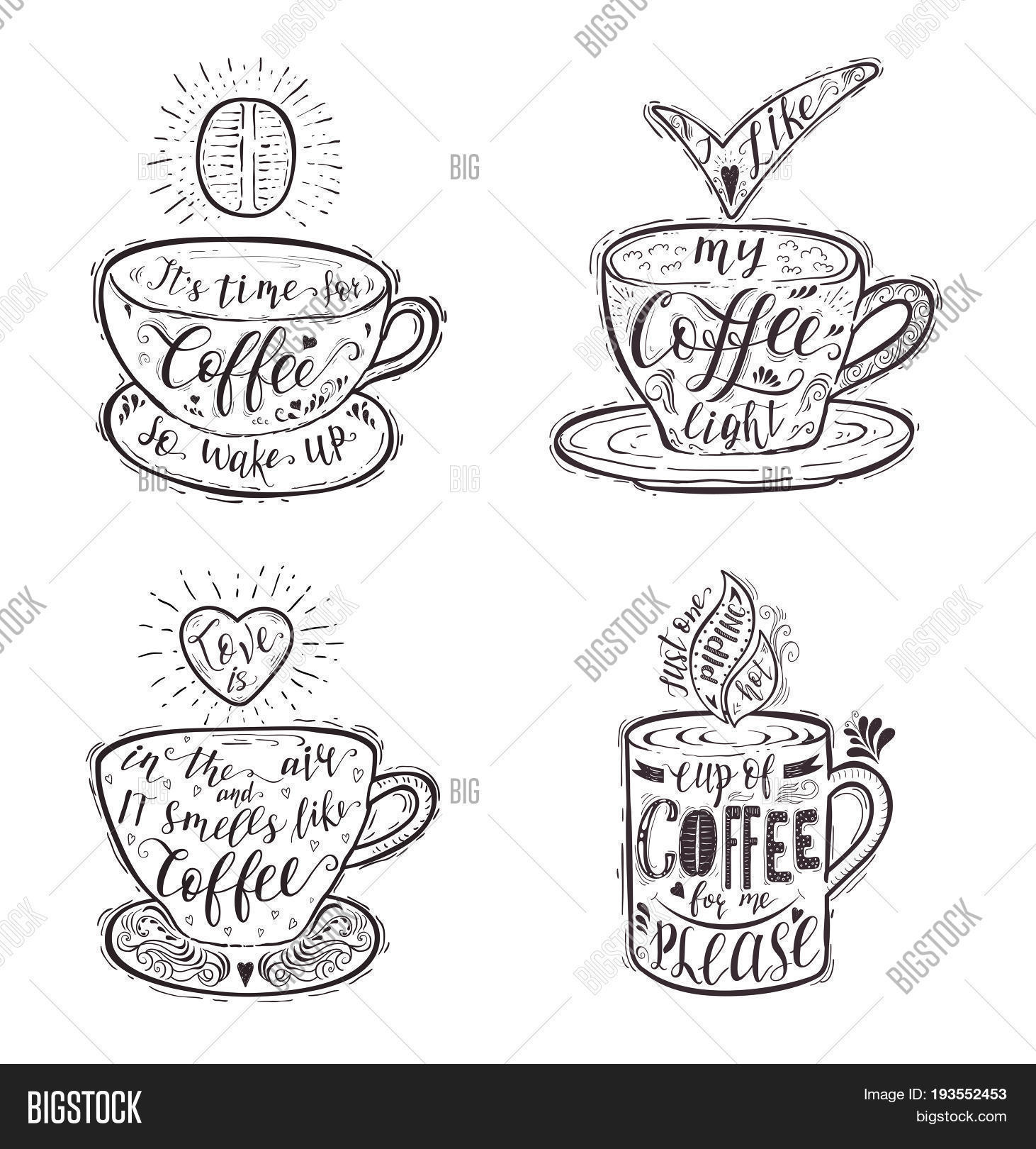 Set Quotes Coffee On Image Photo Free Trial Bigstock