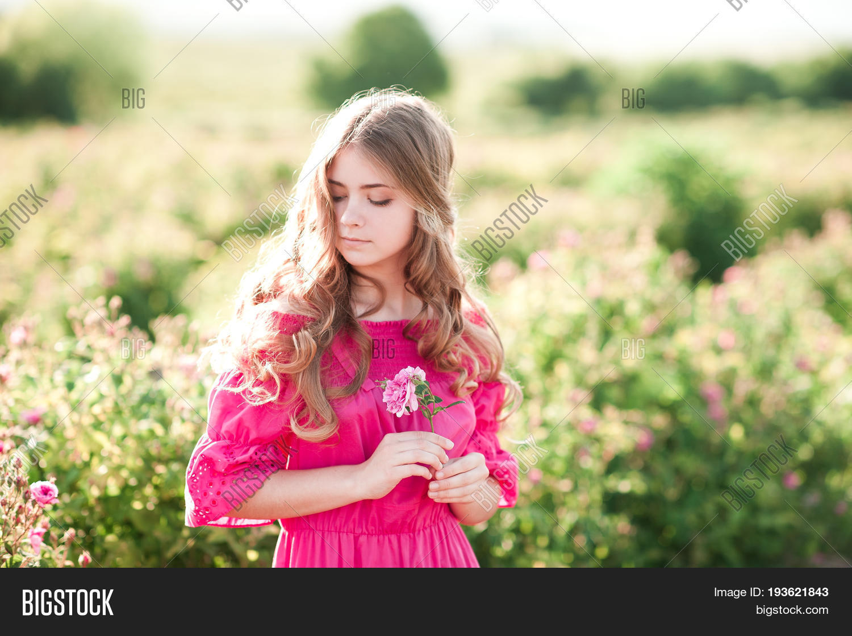 Beautiful blonde teen girl #3