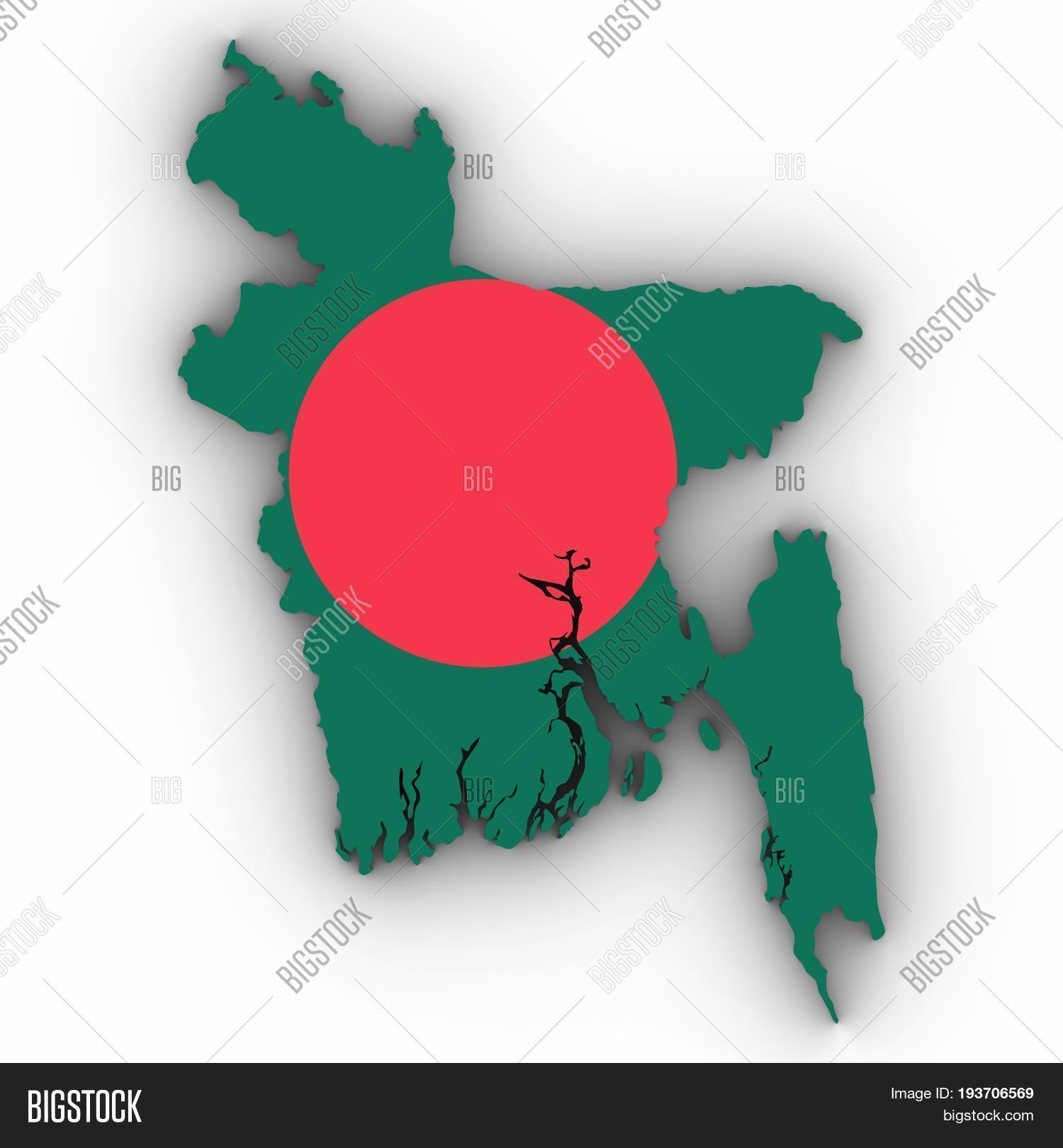 Bangladesh Map Outline Image Photo Free Trial Bigstock
