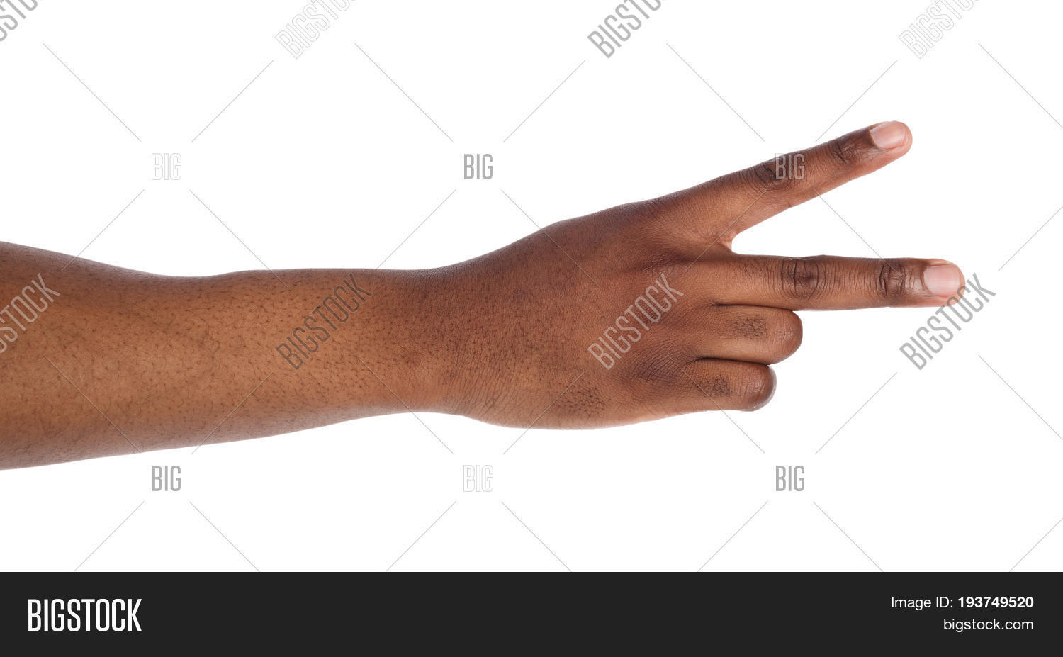 Black Hand Two Fingers Image Photo Free Trial Bigstock