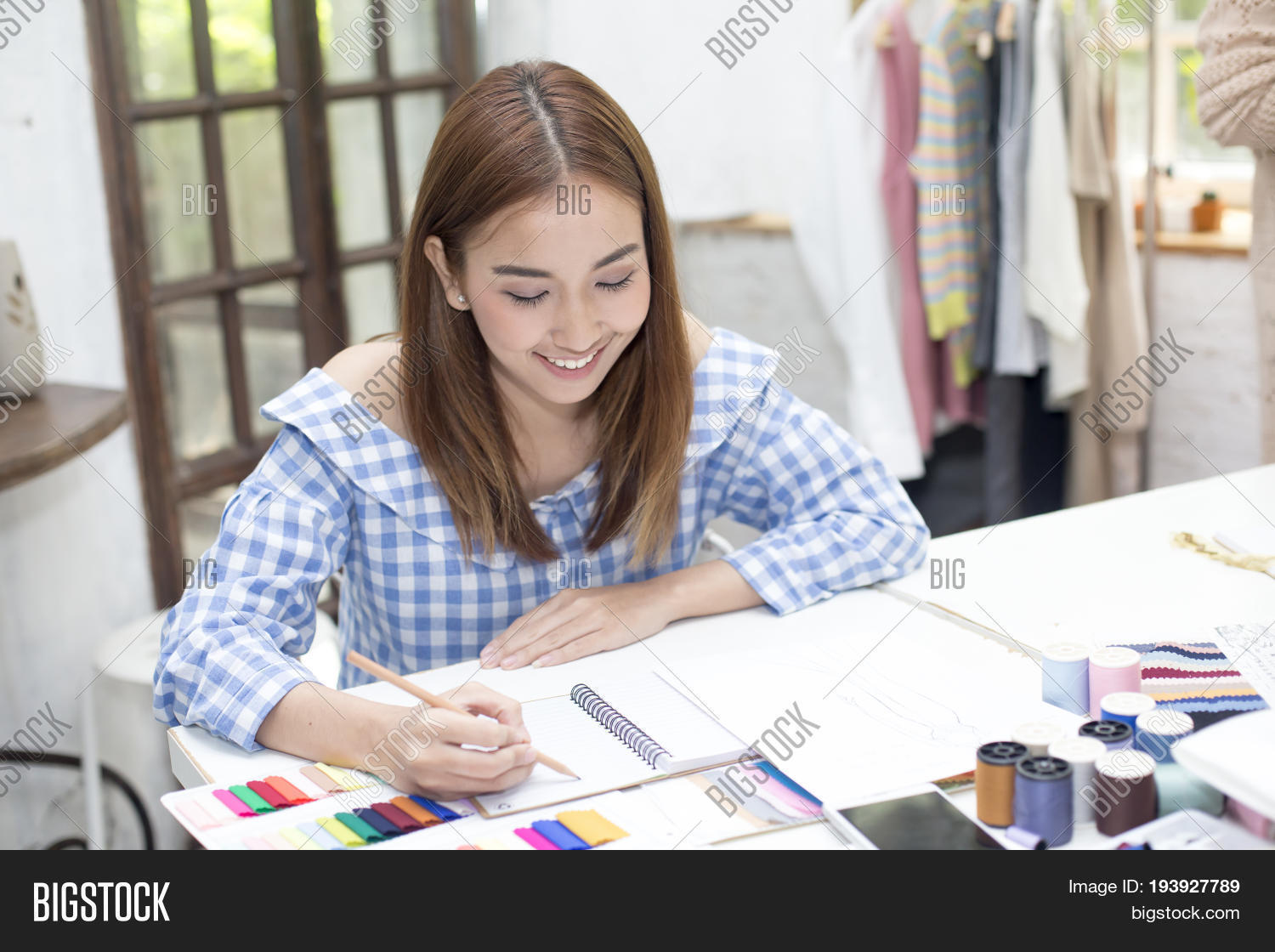 Young Asian Designer Image Photo Free Trial Bigstock