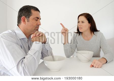 Mature Man Suffers From His Abusive Partner