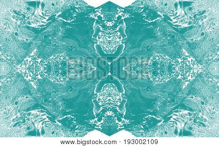 Blue hand drawn abstract kaleidoscope texture. Design element for wallpaper invitations album cover