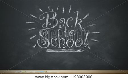 A black chalkboard image with the words