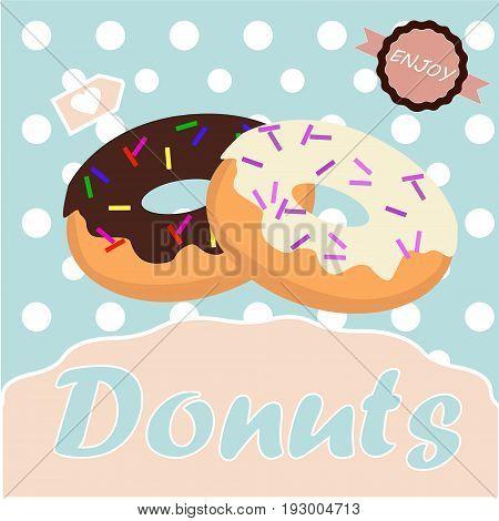 donut vector illustration colorful for donut shop