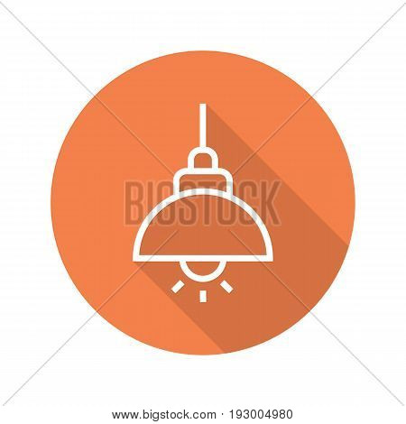 Ceiling flat linear long shadow icon. Vector outline symbol
