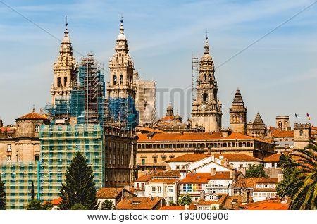Cathedral of Santiago de Compostela in Spain.