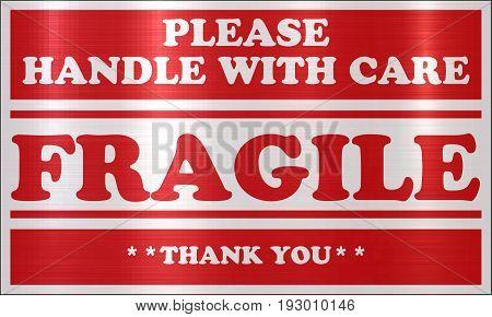 fragile content careful handle red color break caution