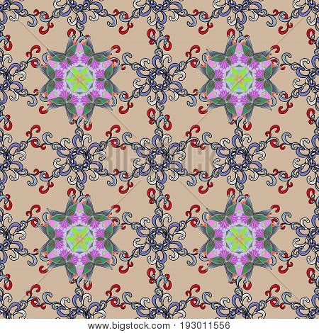 Background with colored ornament mandala based on ancient greek and islamic ornaments. For wedding invitation book cover or flyer.