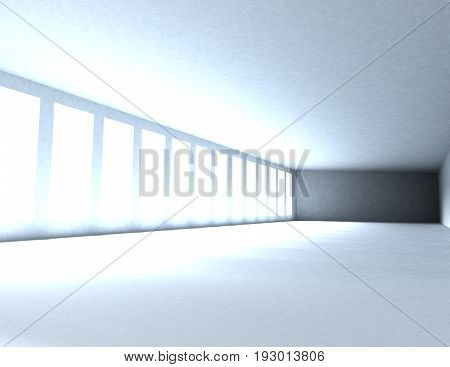 Abstract Room With Window And Light . 3D Rendered Illustration