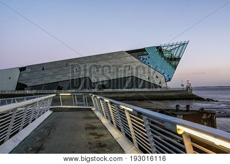 Kingston upon Hull/England - January 9 2011: The Deep Aquarium in Hull in England