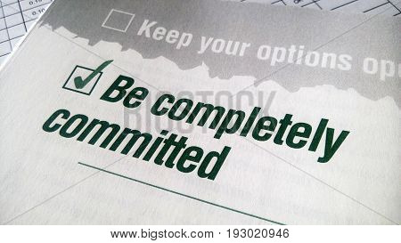 Be Completely Committed