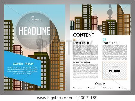 Vector Flyer, Corporate Business, Annual Report, Brochure Design And Cover Presentation With Blue Re