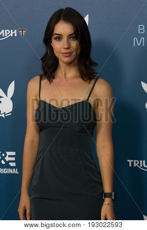 Adelaide Kane of The CW's Reign arrives at A&E / Playboy event at Comic Con 2014 in San Diego, CA