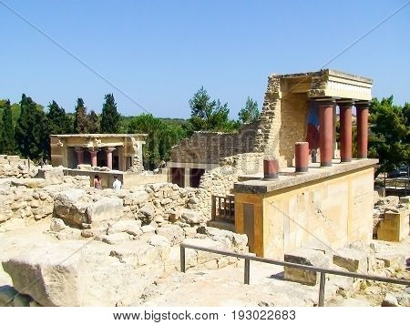 Crete ruins of the Palace of Knossos