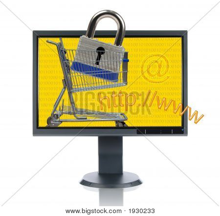Lcd Monitor And Internet Shopping