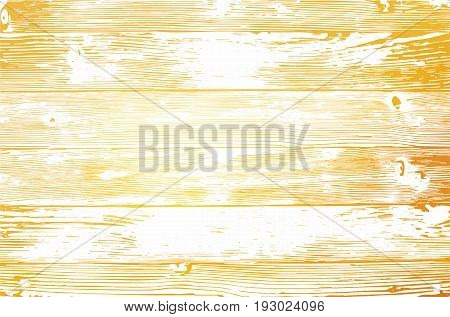 Wooden planks texture for your design. Shabby chic golden background. Vector wood texture backdrop