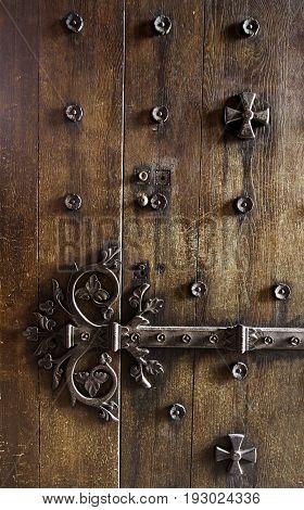 Old Metal Lock Decorated Medieval