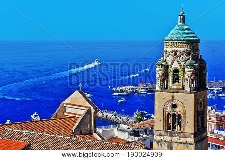 Amalfi In The Province Of Salerno, Campania, Italy