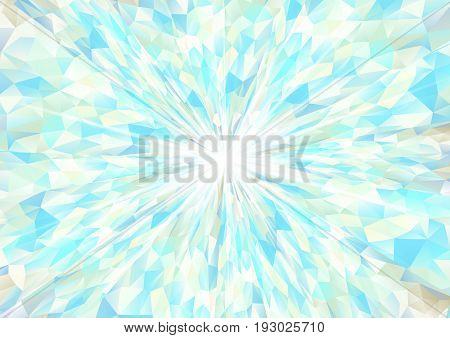 Cubism background radiation White and cyan texture design