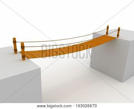 3d bridge concept  . 3d rendered illustration