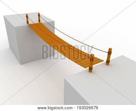 3d bridge concept .  . 3d rendered illustration