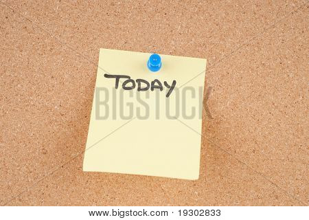 great image of a note pinned to a corkboard