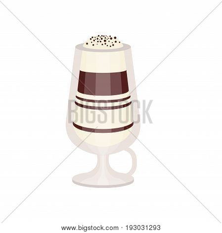 Coffee mocha in a glass vector Illustration isolated on a white background