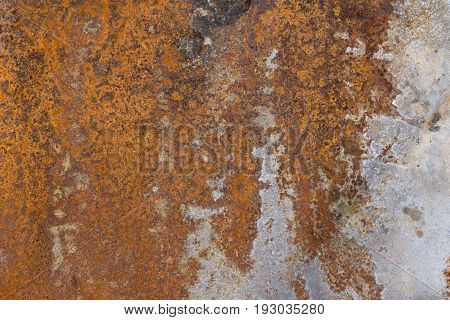 A highly corroded rusty metal plate background