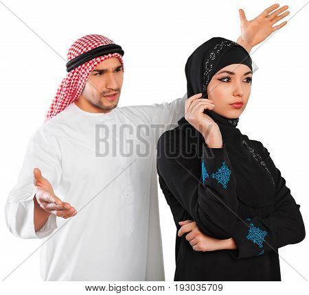 Couple arab female people male man expression
