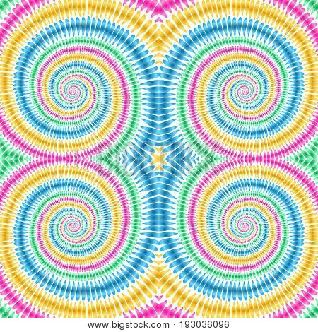 Tie Dye Background Boho Hippie Vector Shibori Colorful Texture