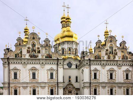 Kiev, Ukraine. Cathedral church of Pechersk Lavra Monastery
