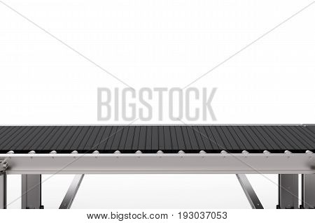 Rubber Conveyor Belt Isolated On White