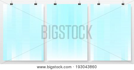 Poster Backgrounds Set Business Backdrops Collection Holographic 1