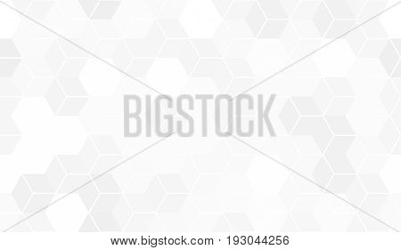 Pattern of hexagon cells. White seamless background
