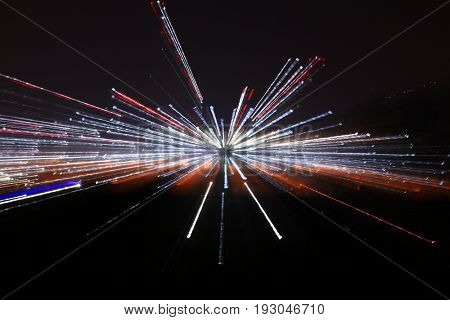 abstract conceptual of blackhole with light in galaxy
