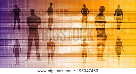 Teamwork and Striving for Success Together in Business 3D Illustration Render