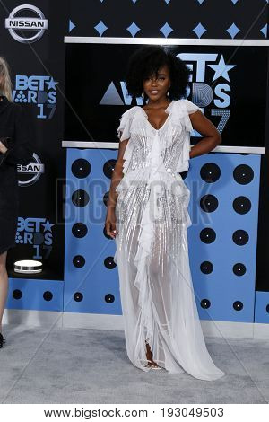 LOS ANGELES - JUN 25:  Lovie Simone at the BET Awards 2017 at the Microsoft Theater on June 25, 2017 in Los Angeles, CA