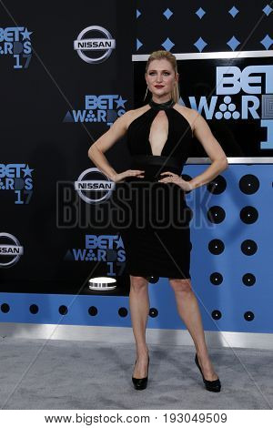 LOS ANGELES - JUN 25:  Katherine Bailess at the BET Awards 2017 at the Microsoft Theater on June 25, 2017 in Los Angeles, CA