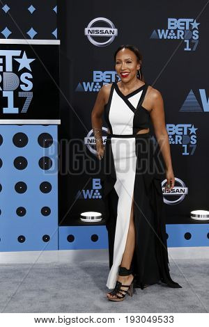 LOS ANGELES - JUN 25:  Mara Schiavocampo at the BET Awards 2017 at the Microsoft Theater on June 25, 2017 in Los Angeles, CA