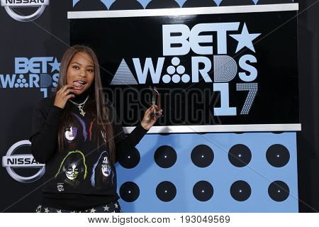 LOS ANGELES - JUN 25:  Kodie Shane at the BET Awards 2017 at the Microsoft Theater on June 25, 2017 in Los Angeles, CA