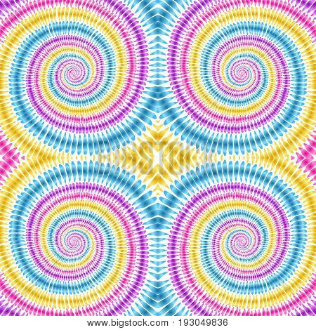 Tie dye background. Hippie style. Watercolor effect vector. Boho textile. Rainbow tie dye. Shibori. Editable vector made with clipping mask. Batik effect. Trendy wallpaper.