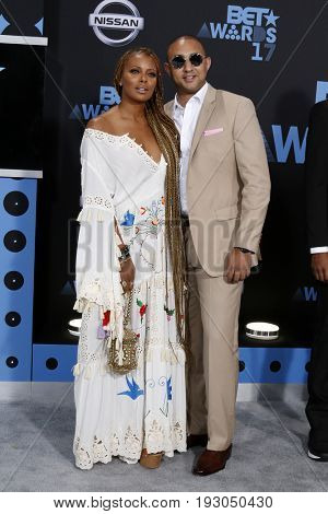 LOS ANGELES - JUN 25:  Eva Marcille, Guest at the BET Awards 2017 at the Microsoft Theater on June 25, 2017 in Los Angeles, CA