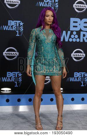 LOS ANGELES - JUN 25:  Sasha Banks at the BET Awards 2017 at the Microsoft Theater on June 25, 2017 in Los Angeles, CA