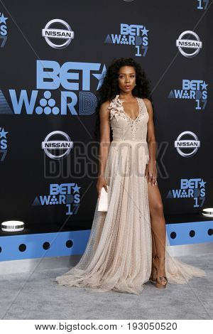 LOS ANGELES - JUN 25:  Lil Mama at the BET Awards 2017 at the Microsoft Theater on June 25, 2017 in Los Angeles, CA